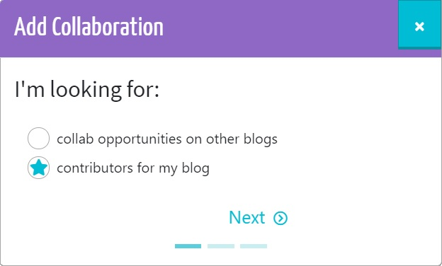 add your blogger collaboration request
