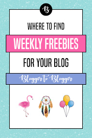 blogging freebies