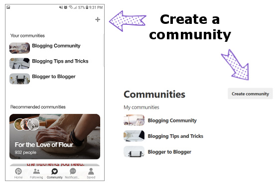 create a pinterest community (image)